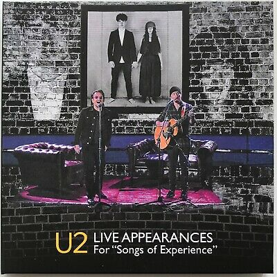 U2 LIVE APPEARANCES 2018 for Songs Of Experience CD/DVD set in digisleeve