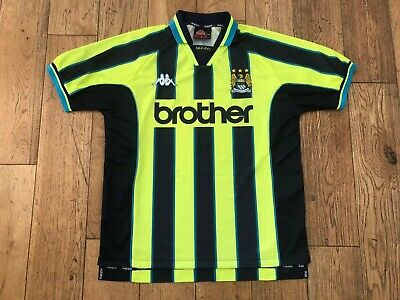Manchester Man City Third 3rd Away Shirt 1998/1999 Vintage Football Retro RARE