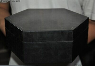Old Chinese Rosewood wood Hand carved Ancient folk Jewelry Box storage box Boxes