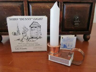 Soho 'Dunny' Light COPPER Matches & CANDLE HOLDER