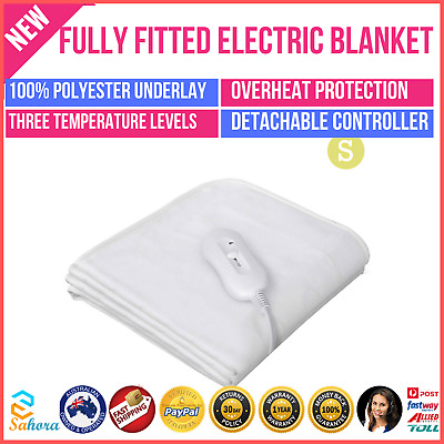 New Giselle Bedding Washable Heated Electric Fully Fitted Blanket Single Size