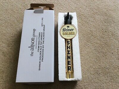 Brand New Shiner Bock Golden Ale Miners Pick Ax  Beer Tap Handle