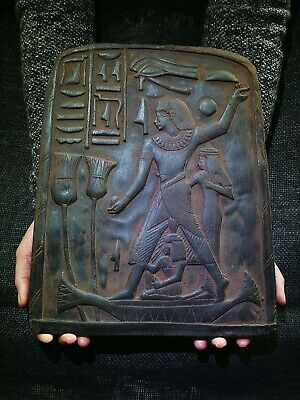 EGYPTIAN ANTIQUE ANTIQUITY Accountant Nebamun Stela Stele Stelae 1400-1350 BC