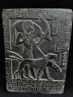 EGYPTIAN ANTIQUE ANTIQUITY Young Ramses II Hunting Stela Stele 1279-1213 BC