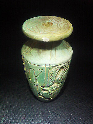 EGYPTIAN ANTIQUE ANTIQUITY Pharaoh Pharaonic Small Stone Vase 3150-2510 BC