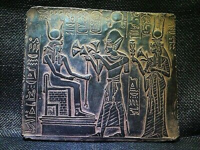 EGYPTIAN ANTIQUE ANTIQUITY Ramses Offering Lotus Stela Stele 1244-1274 BC