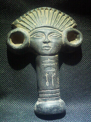 EGYPTIAN ANTIQUE ANTIQUITY Nefertari Amulet Figure Pendant 1549-1139 BC