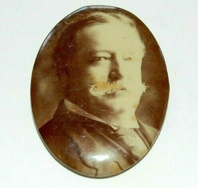 1908 WILLIAM H. TAFT campaign pin pinback button political presidential election