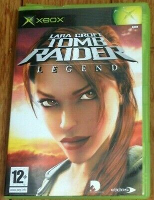 LARA CROFT TOMB RAIDER LEGEND Microsoft Original XBOX Game -manual is missing