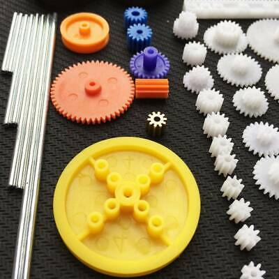 78 Kinds Plastic Shaft Single Double Reduction Crown Worm Gears DIY For Robot B