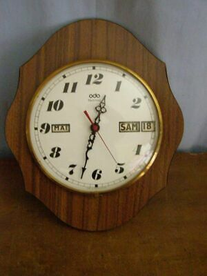 Vintage: Odo wall clock, quartz mechanism (month, day and date)