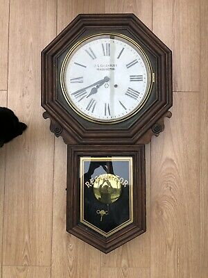 Vintage Schoolhouse Clock With Regulator