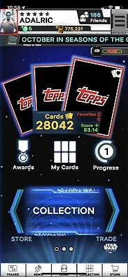 Topps DIGITAL Star Wars Card Trader - U-Pick ANY 9 from My Account for $1.50