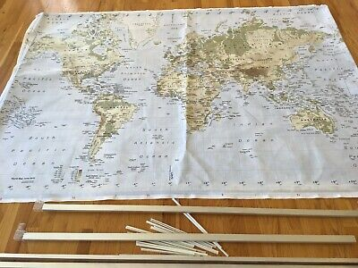 IKEA MAP PREMIAR Large World Map Picture Atlas on Canvas 78 ...