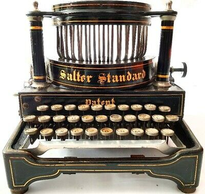 ►Antigua maquina de escribir SALTER nº 6  improved rare TYPEWRITER de 1900►