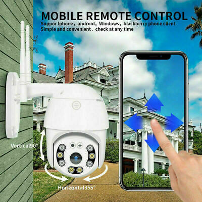 Telecamera Esterna Full Hd 1080P 2019 Wireless Ip  Wifi + Scheda Micro Sd 32Gb