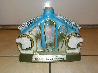 Jim Beam Decanter Bottle 100th Kentucky Derby 1974 Empty