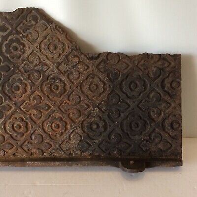 Fleur di Lis and Floral Cast Iron Sheet Fireplace Insert Great To Make Tiles
