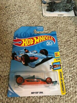 Super Treasure Hunt 2018 Hot Wheels INDY 500 OVAL Racer Gulf Legends of Speed