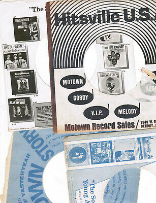 MOTOWN original factory empty 45 record SLEEVES (12 gORDY+ 1 MCA) offered as LOT