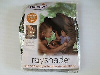 RayShade Black UV Protective Cotton Stroller Canopy with Pockets Free Shipping