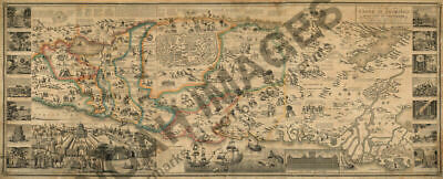 Map of the Land of Promise and the holy city of Jerusalem c1823 24x58