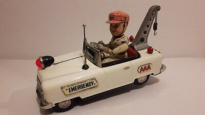 Blechspielzeug Japan Mystery Car Emergency Service Low Tow Truck Mit Funktion