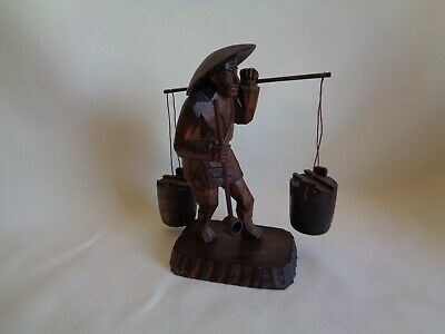 Vintage Hand Carved Wood Man Figurine