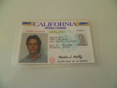 Marty McFly Novelty ID From Back To The Future