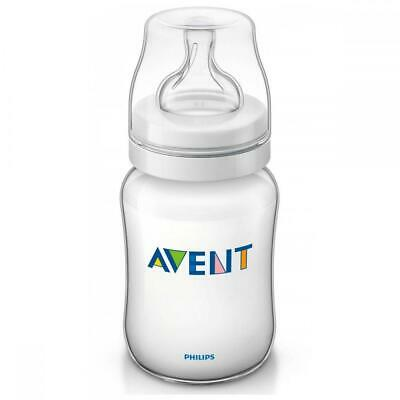 Philips Avent Classic+ Feeding Bottle 260ml, Anti Colic 1 Months+ Slow Flow Teat