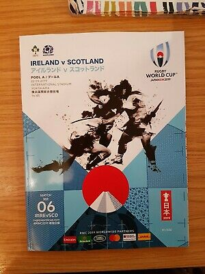 Official 2019 Rugby World Cup Programme - Ireland v Scotland - Game 06