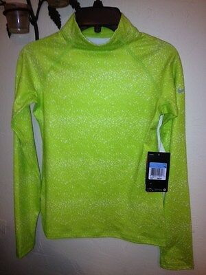 NWT NIKE Girls' Pro Hyperwarm Mock Top Girls Long Sleeve Shirt Medium 519008