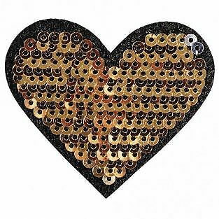 Patch thermocollant avec strass 5 x 4,5 cm - Cur