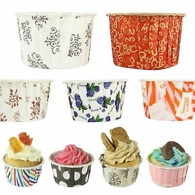 Coloured Grease-Proof Hard Premium Cupcake Cases Muffins Sweets Cups QUALITY