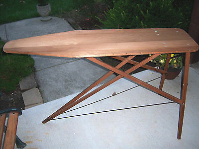 "HTF ANTIQUE NEAT Vintage ANTIQUE Wood Ironing Board 54"" L X 15"" W X 32"" Tall"