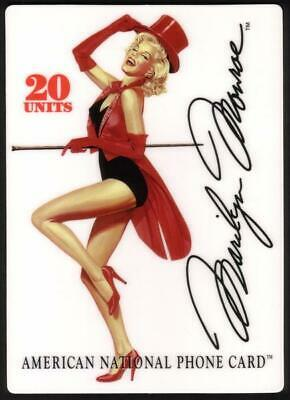 20m Marilyn Monroe Premiere Issue in Red Top Hat & Signature JUMBO Phone Card