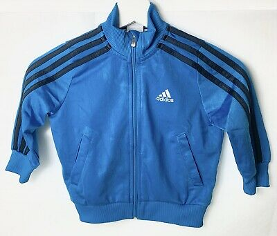Adidas Originals Kids Boys Girls Jacket Tracksuit Top Blue Great Item Age 1-2