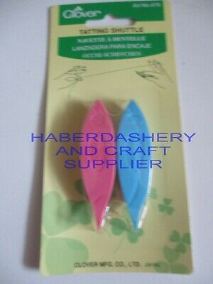 Clover Lace Making Tatting Shuttle 2 Pieces 479