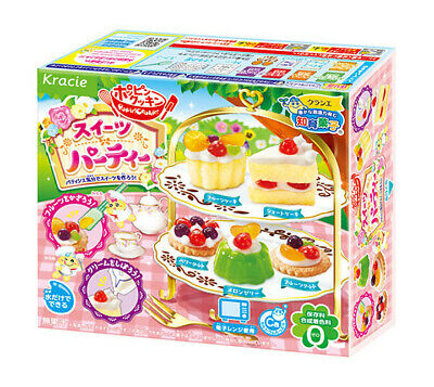 KRACIE POPIN COOKIN SWEETS PARTY KIT DIY Japanese Candy Cakes Desserts Poppin