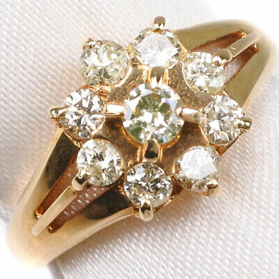 AUTHENTIC  Ring K18 Gold/diamond #11(JP Size) Women
