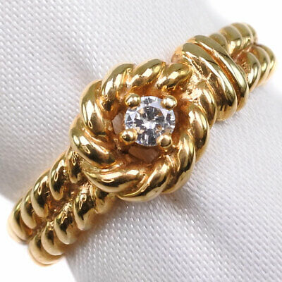 AUTHENTIC  Ring K18 Gold/diamond #11.5(JP Size) Women