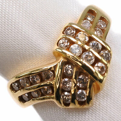 AUTHENTIC  Ring K18 Gold/diamond #12(JP Size) Women