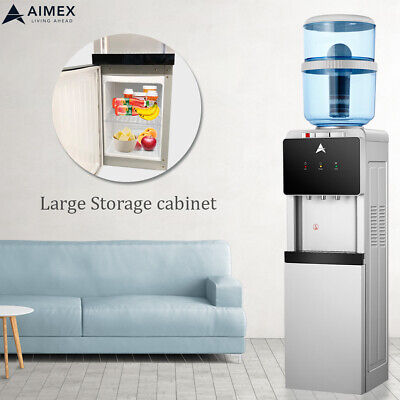 Aimex Water Cooler Dispenser 8 Stage Water Filter Purifier Black Silver Safe