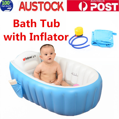 Inflatable Safety Baby Tub Travel Bath Kids Bathtub Shower Child Swimming Pool