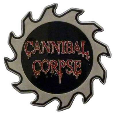 Cannibal Corpse Saw Blade Logo Pin Button Badge Official Black Metal Band New