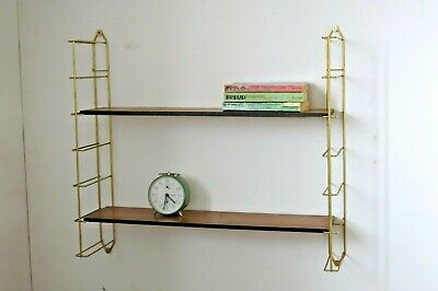 Vintage Mid Century French String Shelving Unit