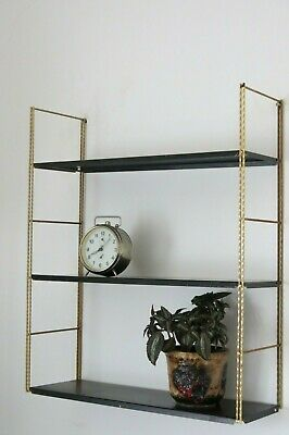 Vintage Mid Century 50's 60's French String Shelving Unit