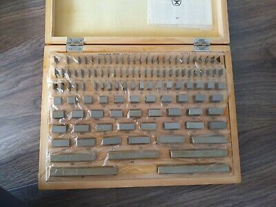 Precision Metric Gauge Block (112 pcs) Class 1 Top Grade ! Endmass Satz USSR!