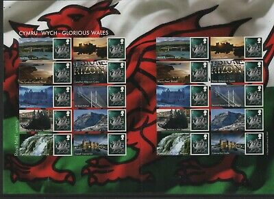 GB 2007 Smilers Glorious Wales SGLS37 sheet stamps unmounted mint MNH