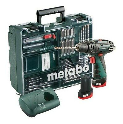 Metabo 600385870 PowerMaxx SB Basic Set Akku-Schlagbohrmaschine